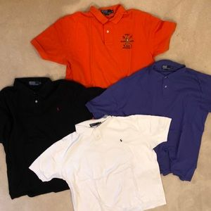 Bundle 4 XL short-sleeve Polos by RL!